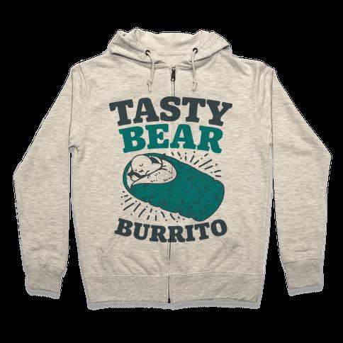 Tasty Bear Burrito Zip Hoodie