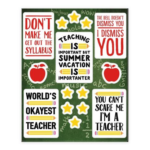 Sassy Teacher  Sticker/Decal Sheet