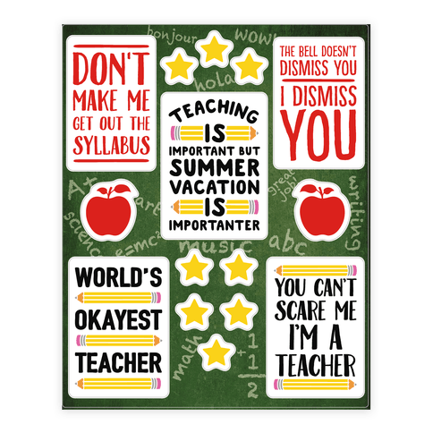 Sassy Teacher  Sticker/Decal Sheet