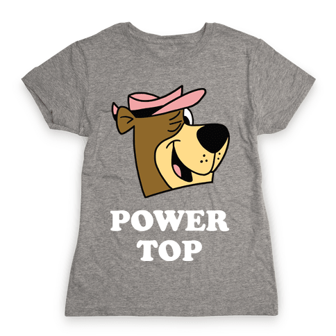 Power Top & Party Bottom (Bear) Womens T-Shirt