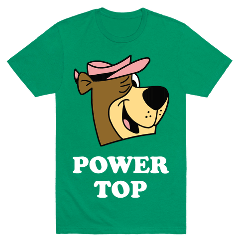 Power Top & Party Bottom (Bear) Mens T-Shirt