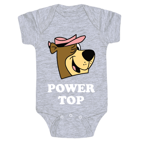 Power Top & Party Bottom (Bear) Baby Onesy