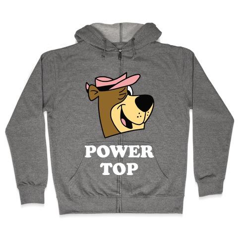 Power Top & Party Bottom (Bear) Zip Hoodie