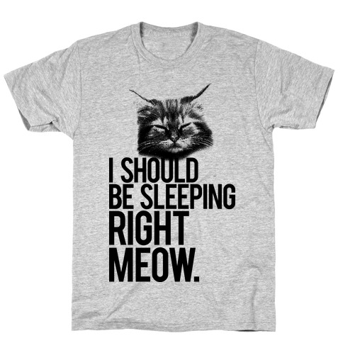 I Should Be Sleeping RIght Meow T-Shirt