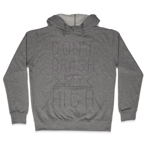Dont Crash My High Hooded Sweatshirt