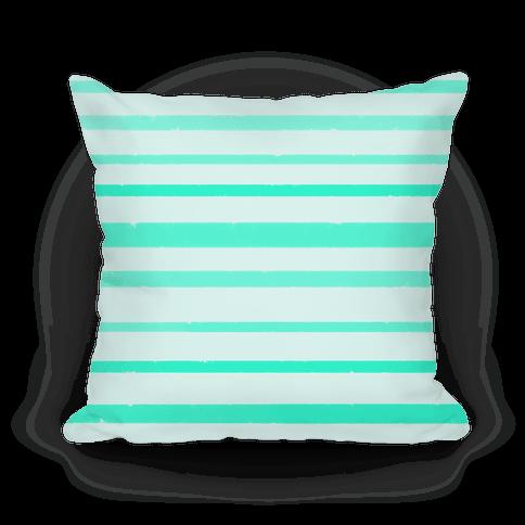 Teal Watercolor Stripe Pattern