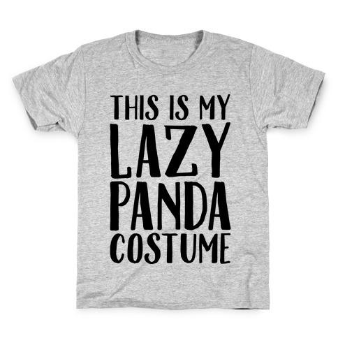 This is My Lazy Panda Costume Kids T-Shirt