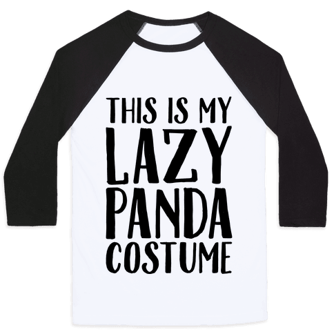 This is My Lazy Panda Costume