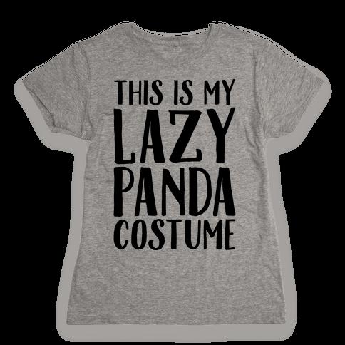 This is My Lazy Panda Costume Womens T-Shirt