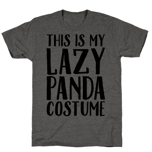 This is My Lazy Panda Costume Mens T-Shirt