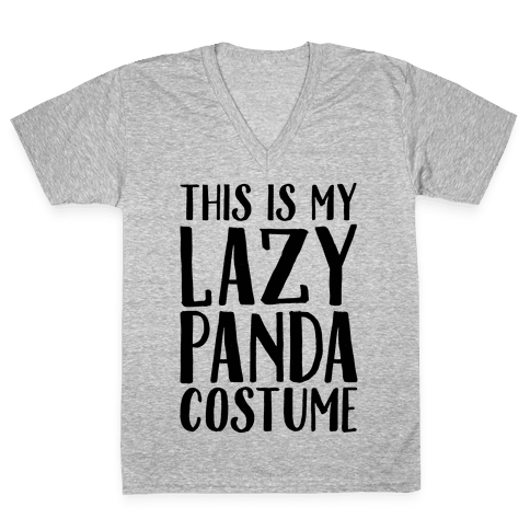 This is My Lazy Panda Costume V-Neck Tee Shirt