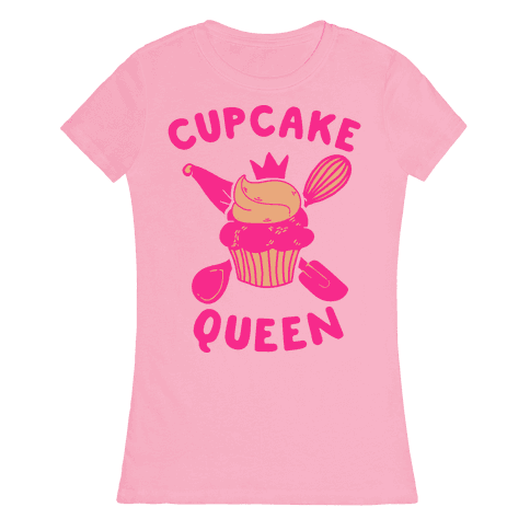 Cupcake Queen Womens T-Shirt