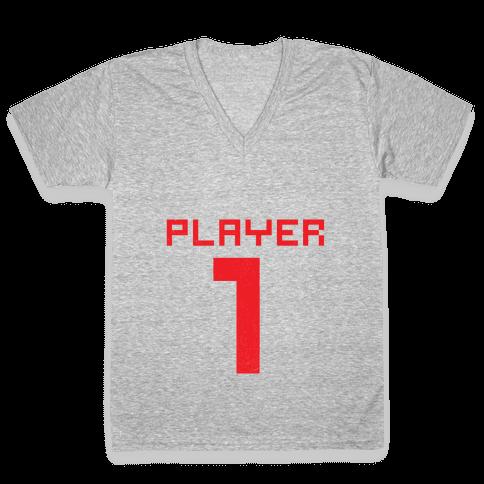 Player 1 V-Neck Tee Shirt