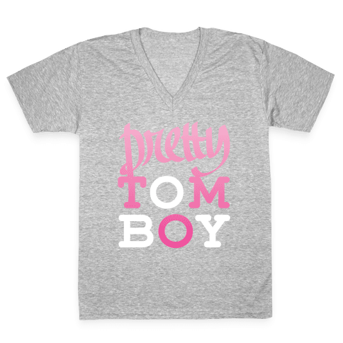 Pretty Tomboy V-Neck Tee Shirt