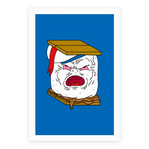Stay Puft Smore Head Poster
