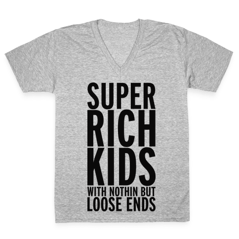 Super Rich Kids V-Neck Tee Shirt