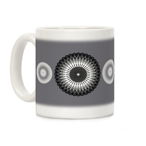 Black and White Flower Mandala Coffee Mug