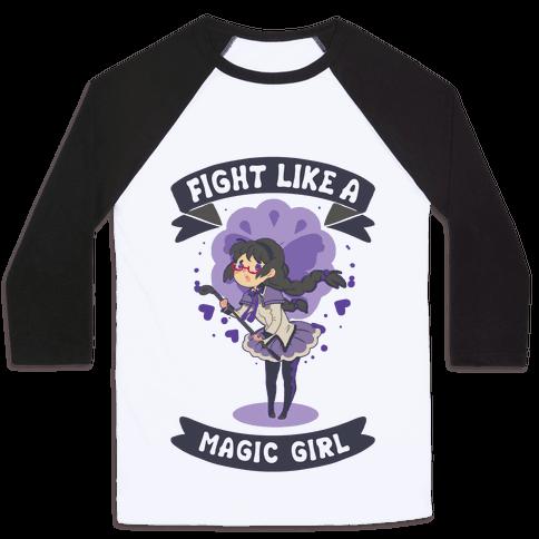 Fight Like A Magic Girl Parody Homura Baseball Tee