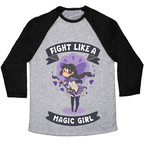 Fight Like A Magic Girl Parody Homura Baseball Tee