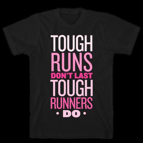 Tough Runners (Pink) Mens T-Shirt
