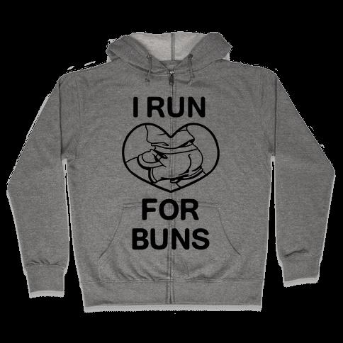 I Run For Buns Zip Hoodie