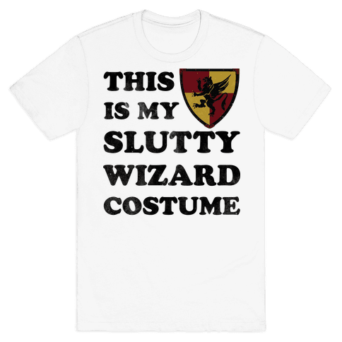 This Is My Slutty Wizard Costume Mens T-Shirt
