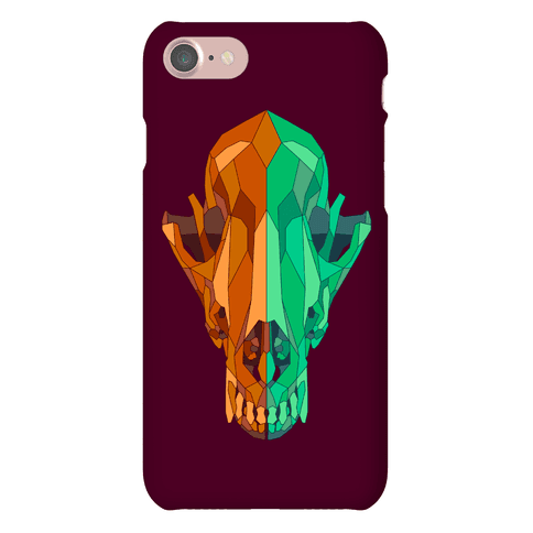 Geometric Coyote Skull Phone Case