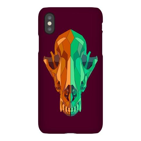 Geometric Coyote Skull Phone Case