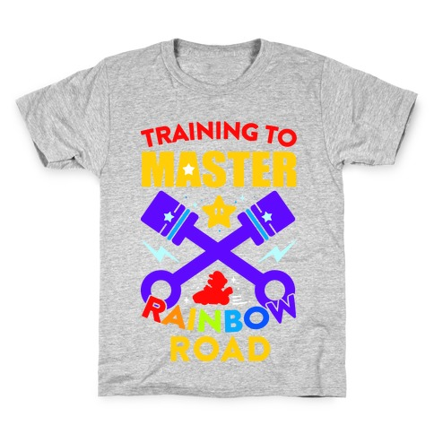 Training To Master Rainbow Road Kids T-Shirt