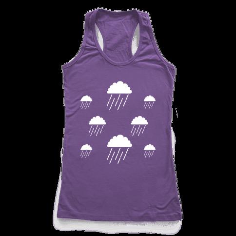 Minimalist Rain Clouds Racerback Tank Top