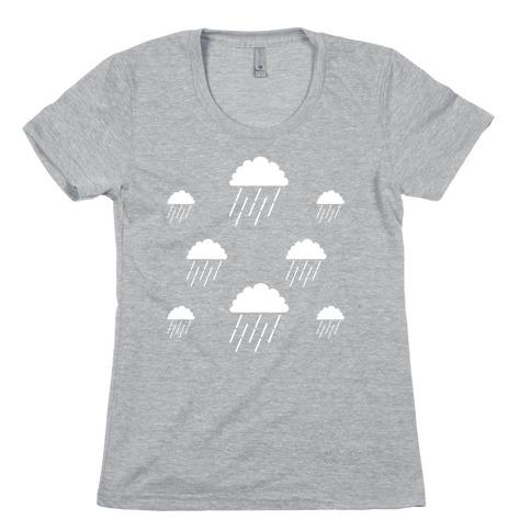 Minimalist Rain Clouds Womens T-Shirt