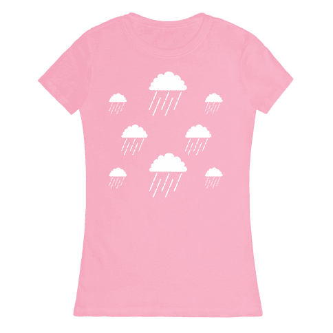 Minimalist Rain Clouds Womens T-Shirt