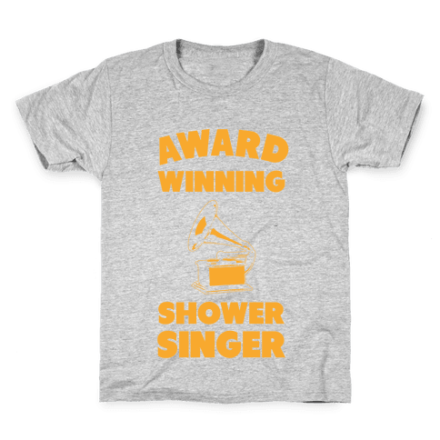 Award Winning Shower Singer Kids T-Shirt