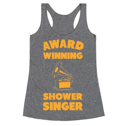 Award Winning Shower Singer Racerback Tank Top