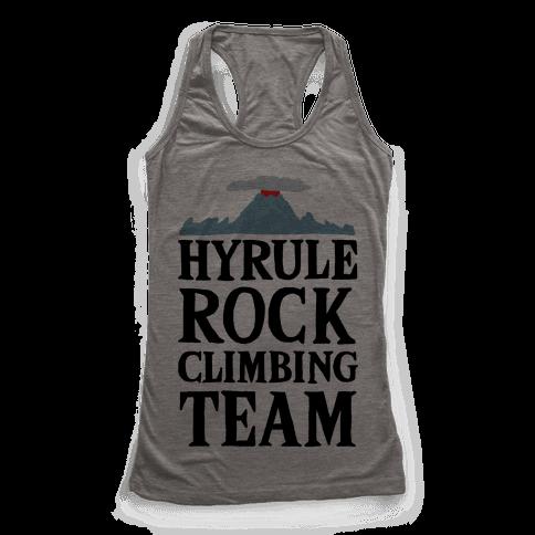 Hyrule Rock Climbing Team Racerback Tank Top
