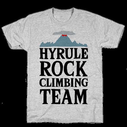 Hyrule Rock Climbing Team Mens/Unisex T-Shirt
