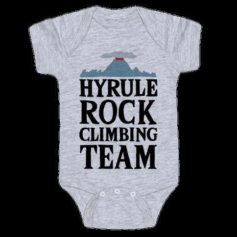Hyrule Rock Climbing Team Baby Onesy