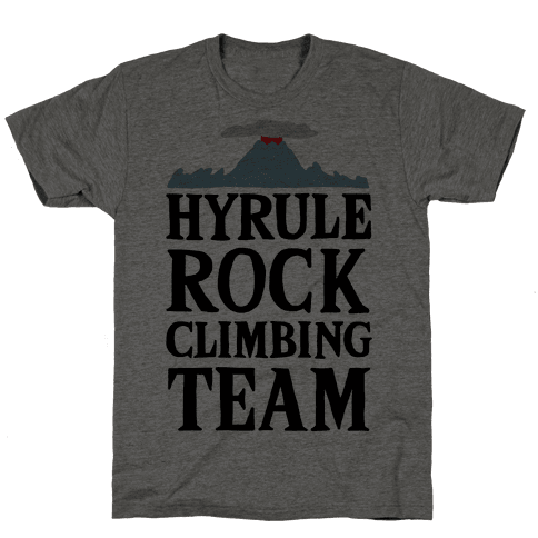 Hyrule Rock Climbing Team Mens T-Shirt