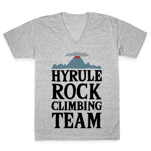 Hyrule Rock Climbing Team V-Neck Tee Shirt