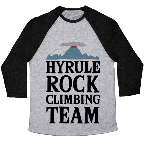 Hyrule Rock Climbing Team Baseball Tee