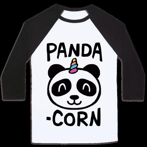 Panda-Corn Baseball Tee