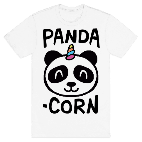 Panda-Corn Mens T-Shirt
