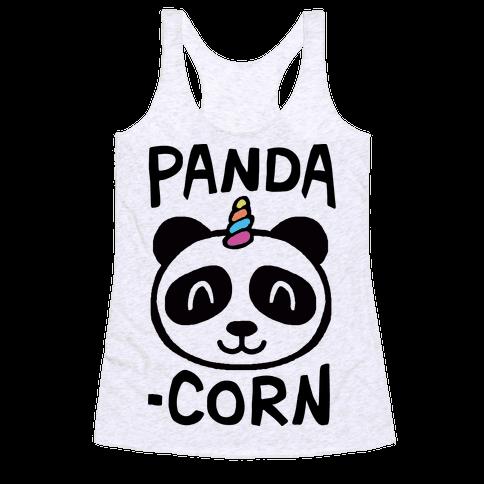 Panda-Corn Racerback Tank Top
