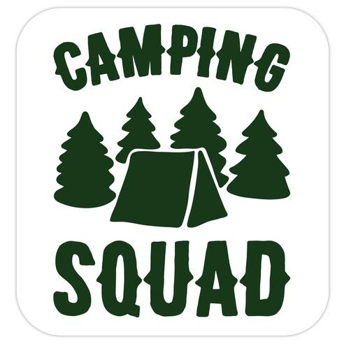 Camping Squad Die Cut Sticker