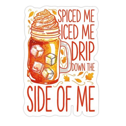 WAP Pumpkin Spice Parody Die Cut Sticker
