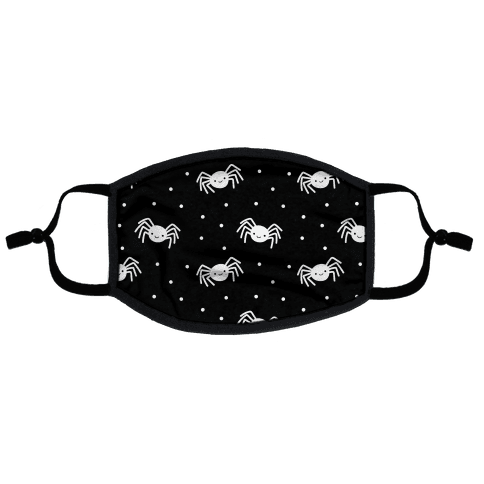 Cute Spider Pattern (Black) Flat Face Mask