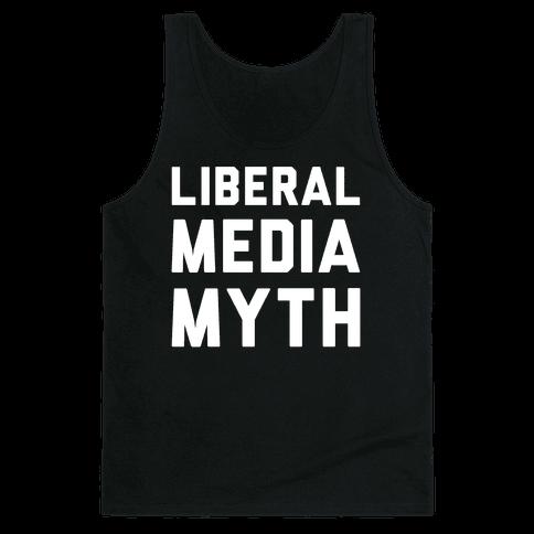 Liberal Media Myth White Print Tank Top
