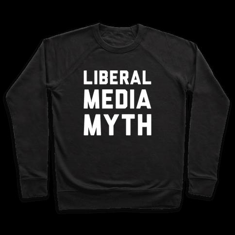 Liberal Media Myth White Print Pullover
