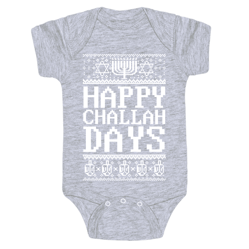 Happy Challah Days Baby Onesy