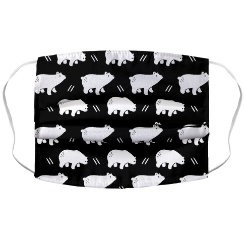 Bear Black and White Boho Pattern Accordion Face Mask